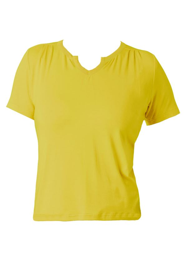 du Milde bluse Petra Basic Yellow