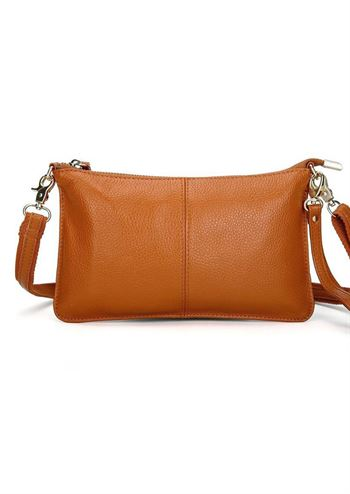 Just D'Lux clutch cognac