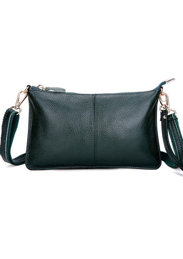 Just D\'Lux clutch mørkegrøn