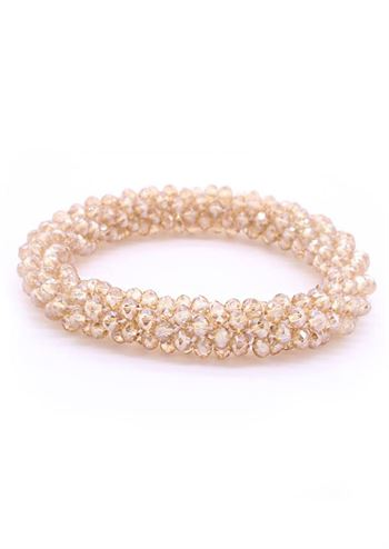 Just D'Lux armbånd crystal beige