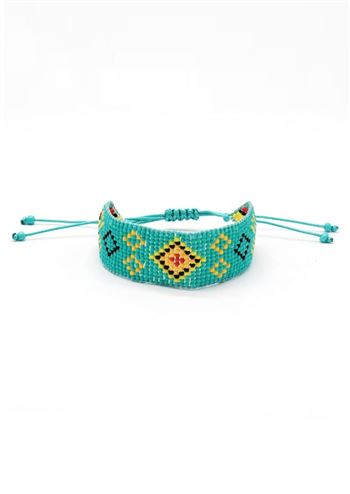 Just D'Lux armbånd seedbead turkis