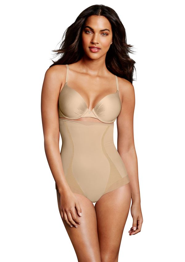 Maidenform high waist brief nude