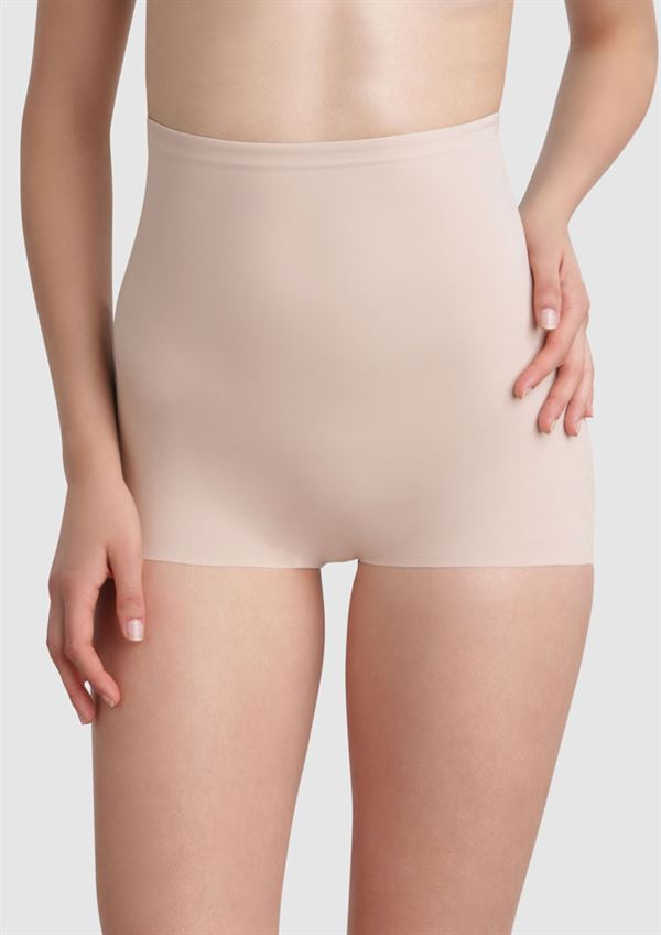 Maidenform sleek smoothing hi-waist boyshort nude