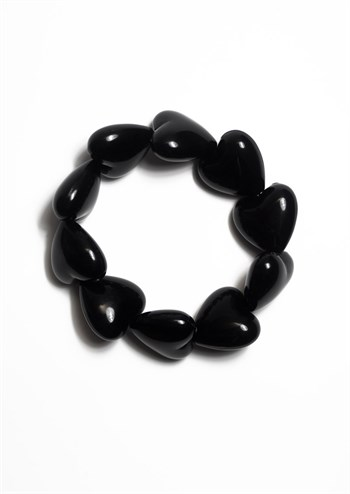 Margot Jewelry armbånd Black Hearts sorte hjerter MWMwear