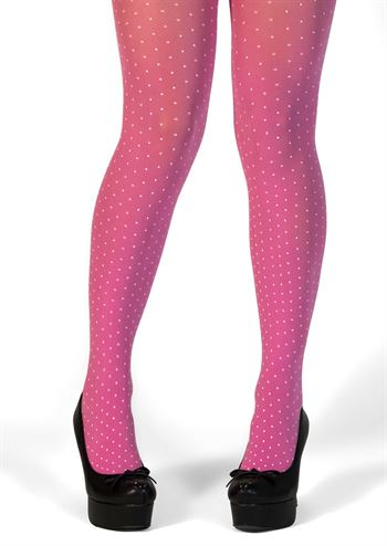 Margot loves tights Pink White Dots no 2021