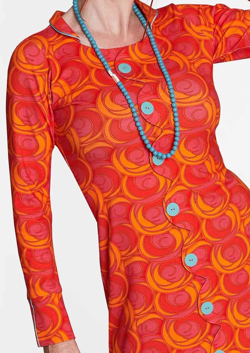 56d2913d97ec Køb Margot orange pink kjole Jane Special no 948. Fri fragt