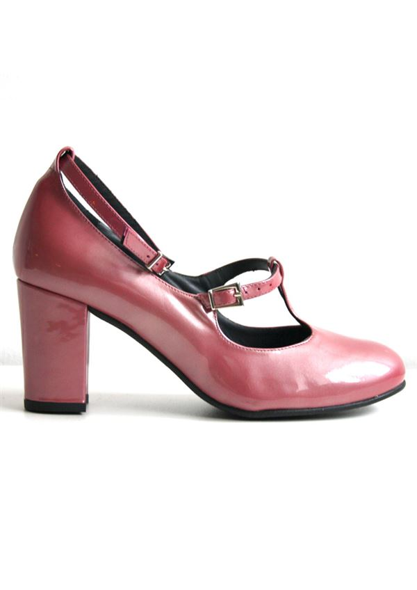 Nordic ShoePeople sko LIVA 21 metallic patent rose