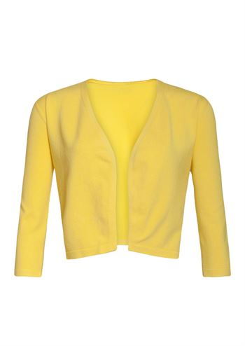 Kort gul cardigan fra Smashed Lemon